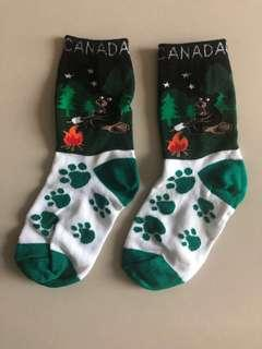 New Never Worn Canada Green White Bear Socks