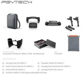 🚚 PGYTECH 7 in 1 Accessories Combo Carrying Case + ND Filter Lens + Landing Pad + Extension Legs Gear + Propeller Holder + Control Stick Guard Protector + Len Hood for DJI MAVIC 2 PRO Drone Accessories
