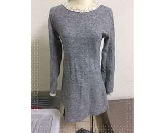 🚚 九成新 洋裝 韓國帶回 灰色