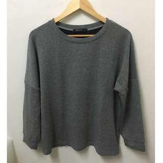 SM Woman Gray Pullover Sweater