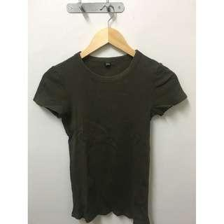 Uniqlo Olive Ribbed Top