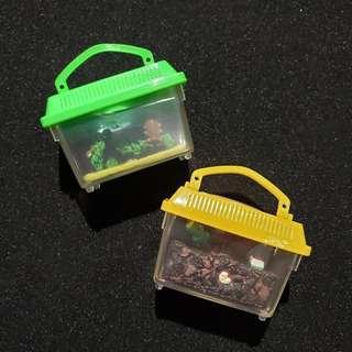 Yujin 食玩扭蛋 飼育當番1 迷你寵物箱 甲蟲箱 小龍蝦 蛇