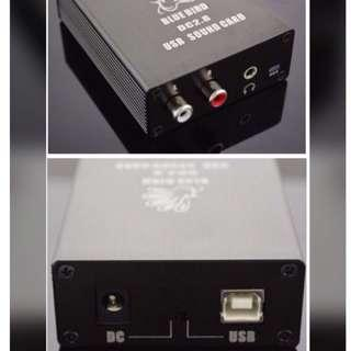 DAC Digital Analog Converter  Input : PC or Mac USB  Output: RCA or 3.5mm headphone
