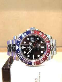 """Brand New Rolex Oyster GMT Master II 126710BLRO """"Pepsi"""" Black Dial Automatic Steel Casing Bracelet"""