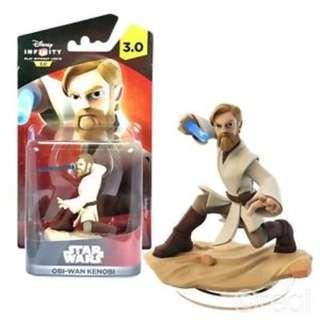 BRAND NEW IN BOX Disney Infinity 3.0 Light FX Star Wars Obi Wan Kenobi Figuring XBox PS3 PS4 X Box PlayStation PS 3 4 Xbox360 360 WiiU Wii U