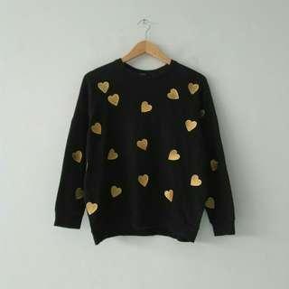 FOREVER 21 Love Bordir Sweater Original