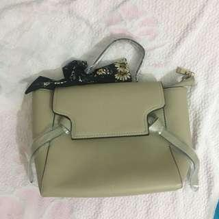 New beige color bag