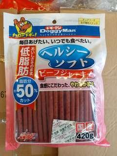 日本Doggyman軟牛肉條420g