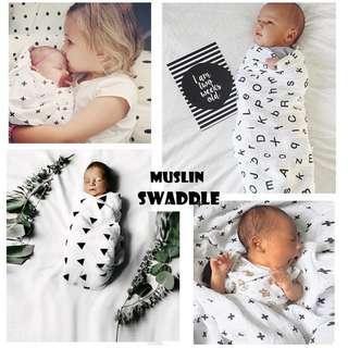 Instock 100% Cotton Muslins Swaddle blanket for baby n kids