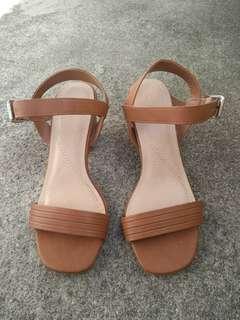 Brown Block Heels