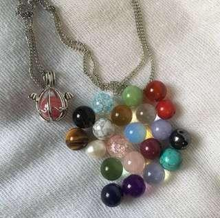 Authentic 22pcs. Gemstones changeable charms w necklaceings