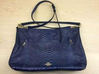 Original coach leather blue