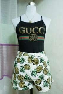 Pineapple highwaist shorts