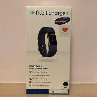Fitbit Charge 2 (Blue, Large Size)
