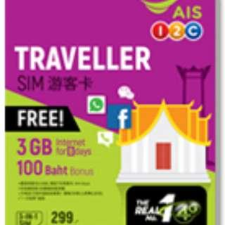 Thailand Prepaid SIM card - activated and no need to register or queue
