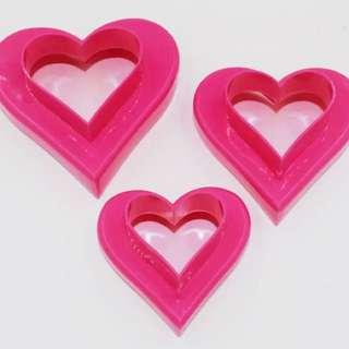 3pcs Heart shapes cookies Cutter (6 sizes)
