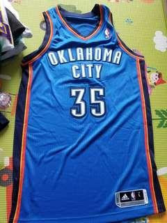 NBA Kelvin Durant Thunder Authentic Adidas Jersey 球衣