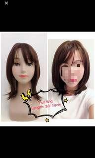[IN STOCK] Shoulder Length Synthetic Wig (Chocolate Color) | Full wig