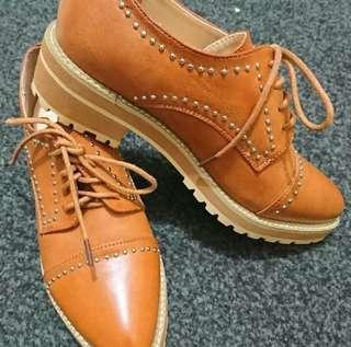 💫 KAY brown leather shoes 💫