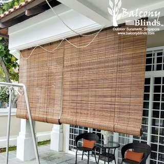Natural Colour Bamboo Blinds