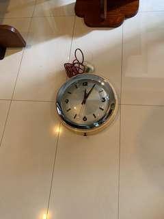 Diamond clock. 12 inch