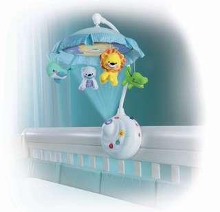 Fisher Price BB床鈴 有燈 嬰兒床音樂 cot mobile