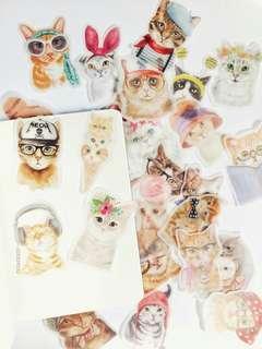 15pcs Cat Deco DIY scrapbooking Planner journal