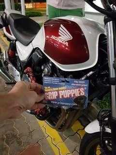 Authentic Grip Puppies (From UK) for Sale. $30 for a pair + Installation ( Installed on Honda Super4 2018 on 16th Nov 2018)