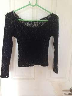 Size small lace mesh top
