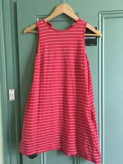 Beginning boutique red stripe mini dress