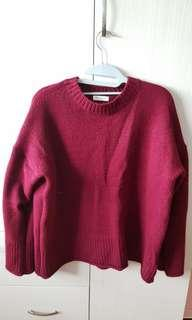 Maroon Knitted Pullover