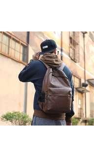 Waterproof leatherette camera backpack