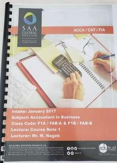 ACCA F1 Textbook 2017