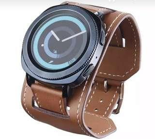 22mm watch cuff leather strap for galaxy watch or s3 frontier