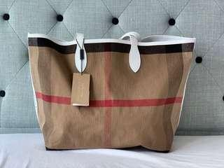 Burberry Large Reversible Doodle Tote Bag