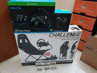 Playseat Challenge & Logitech G920 with Gear Shifter
