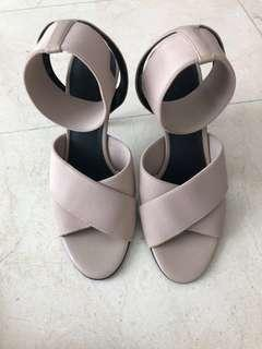 Charles and Keith beige heels size 38
