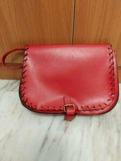 Red small sling bag