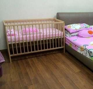 Baby cot and mattress IKEA