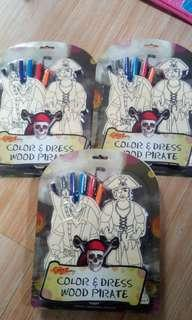 Craft easy wooden pirate color and dresa