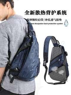 實用袋 男士單肩包 男時尚胸包 男潮流挎包 大容量 斜挎包 休閒包包 運動 小背包