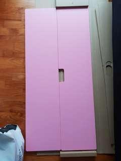 IKEA STUVA / FRITIDS Children Wardrobe Pink Doors (1 Set)