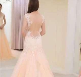 Low Back Mermaid Wedding Gown
