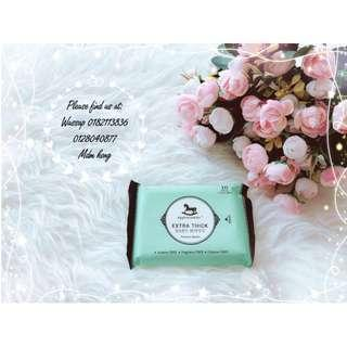 (Sarawak/Sabah) Applecrumby Extra Thick Premium Baby Wipes 10's