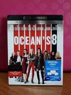 USA Blu Ray Slipcase 4K - Ocean's 8 (Oceans 8)