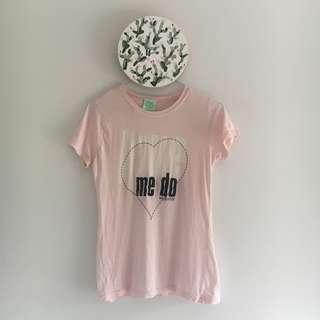 Vintage Baby Pink Beatles T-shirt