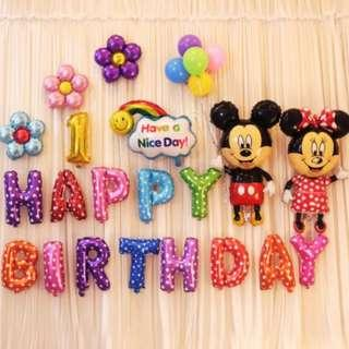 🚚 (In Stock)Mickey Mouse Theme Birthday Party Decoration Set