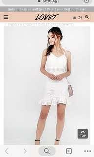 Engeline Crochet White Dress