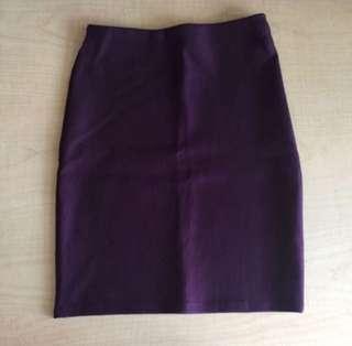 BN maroon bandage pencil skirt