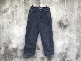 🚚 PULL&BEAR 高腰黑灰直筒牛仔寬褲 男朋友褲